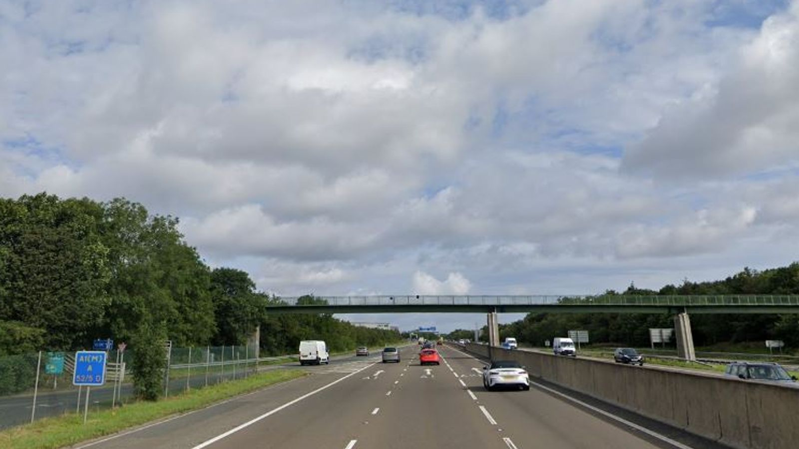 A1 closed for 10 hours after man falls from bridge thumbnail