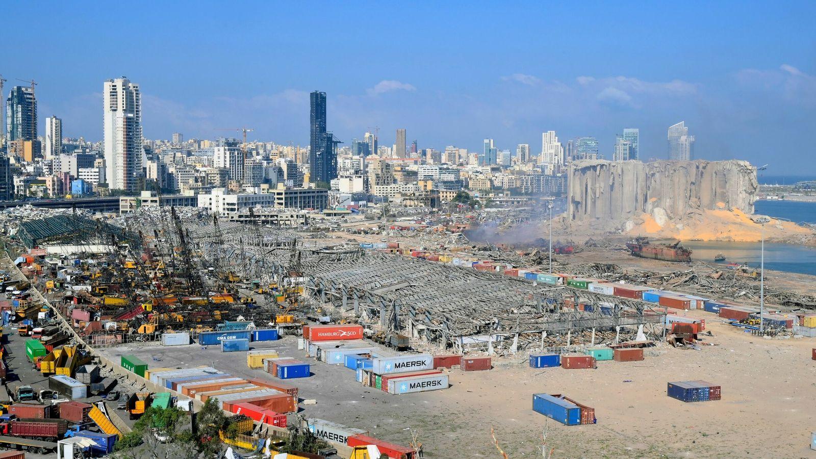 Aftermath of massive blast in Beirut. Pic: Wael Hamzeh/EPA-EFE/Shutterstock
