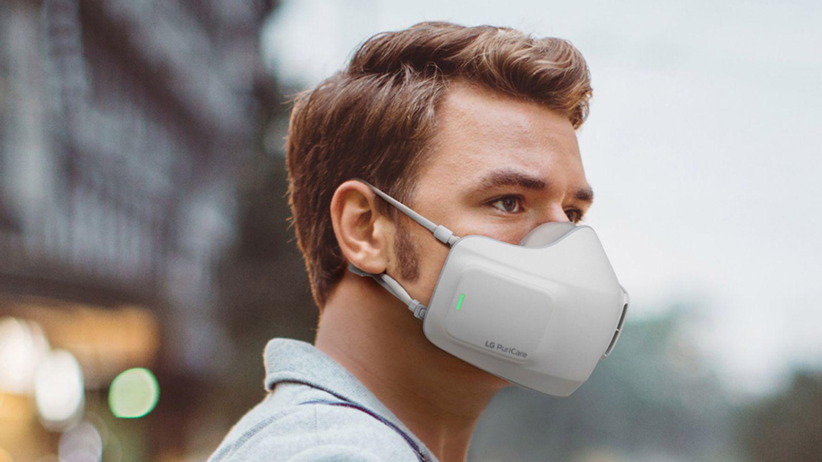 Coronavirus: LG unveils battery-powered face mask dubbed 'wearable air purifier'