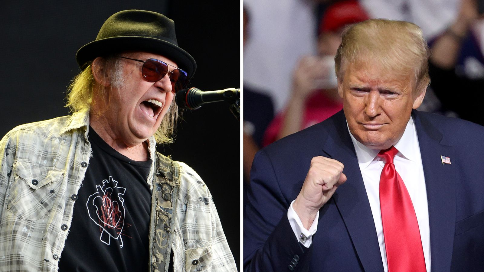 Neil Young sues Trump campaign for using his music 'as theme song' thumbnail