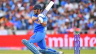 MS Dhoni in action in 2019