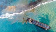 The MV Wakashio has been stranded in Mauritian waters since 25 July after crashing into a reef