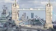 Tower Bridge was stuck open for more than an hour on Saturday, causing traffic gridlock in central London. Pic: Matthew Jacobs Morgan