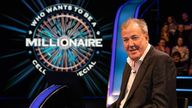 Jeremy Clarkson hosts Who Wants To Be A Millionaire? Pic: ITV