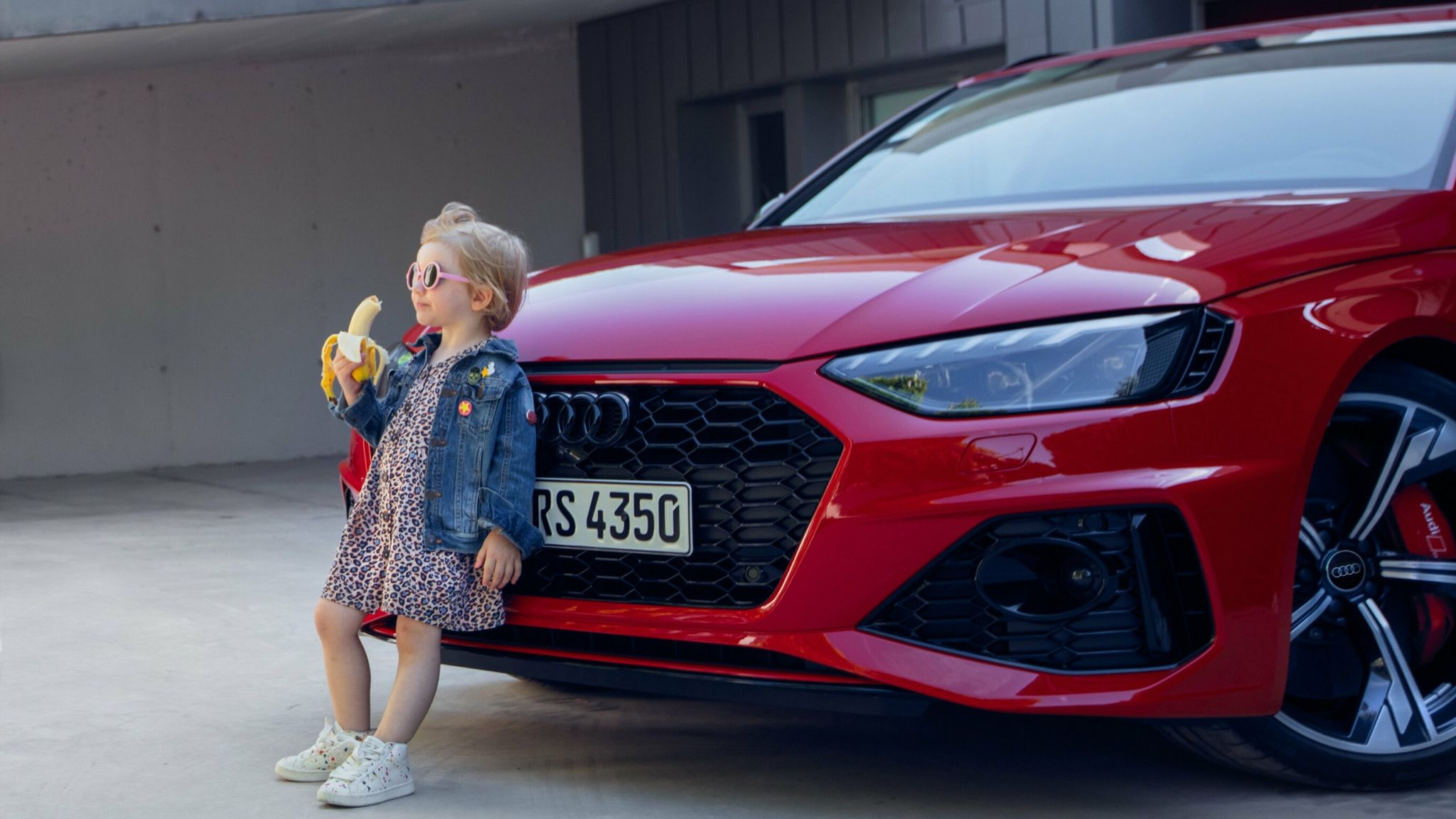 Audi apologises for 'insensitive' advert showing little girl eating a banana  | Business News | Sky News