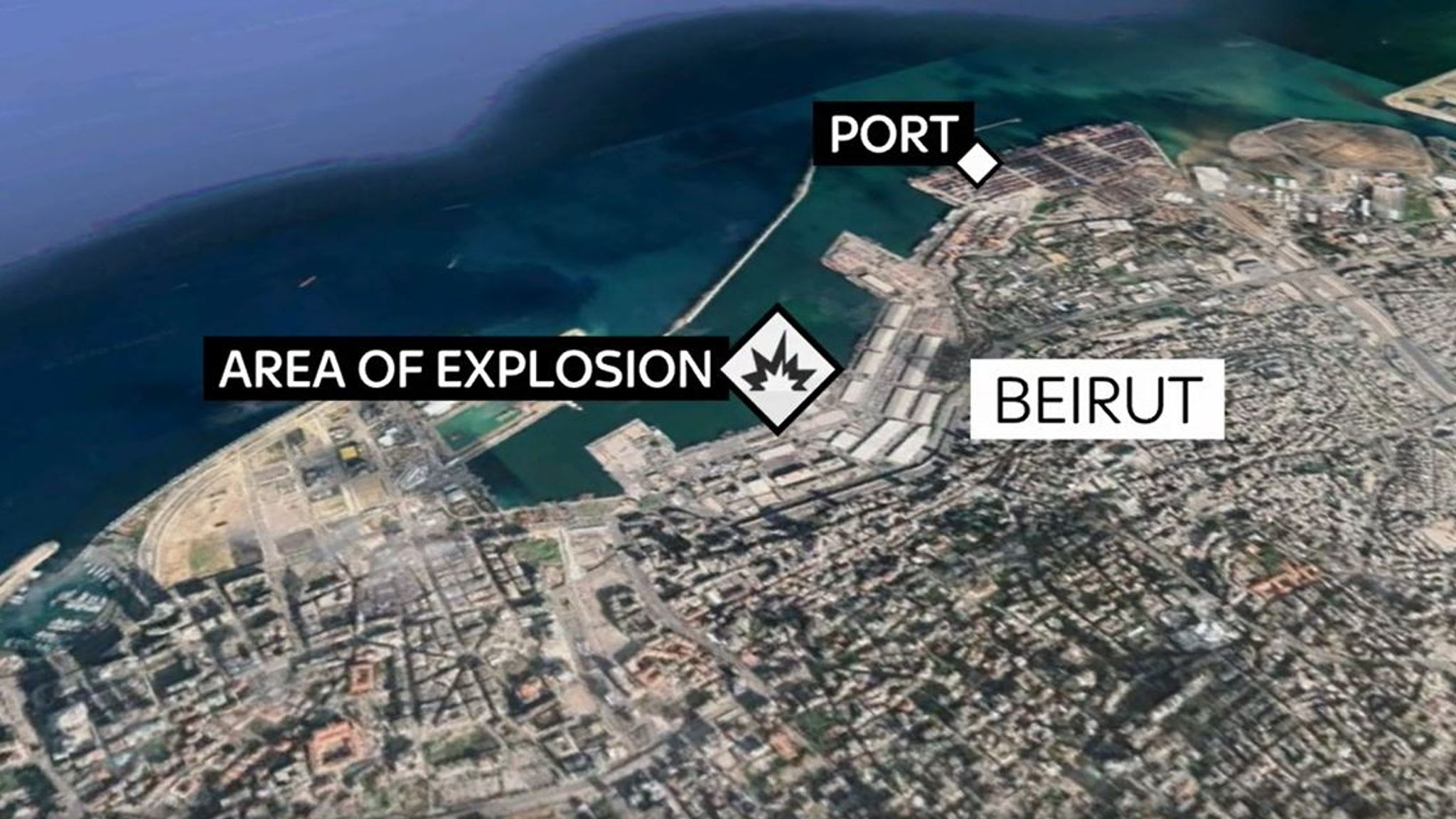Map shows where Beirut explosion happened | World News | Sky News