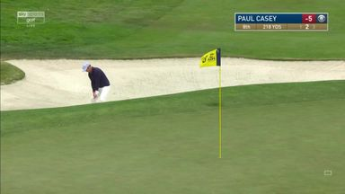 Casey holes out from bunker!