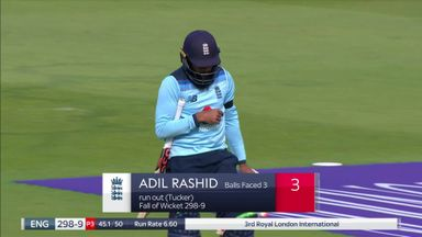 Rashid run out and is short by a mile!