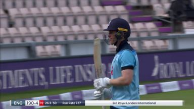 Morgan's fabulous innings comes to an end