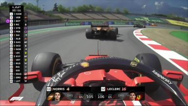 Norris and Leclerc go wheel-to-wheel