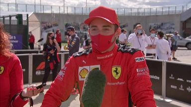 Leclerc happy with third place finish