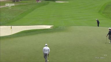 Cauley's 80-foot birdie!