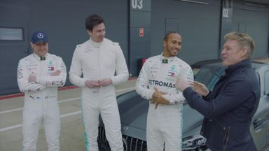 Hamilton & Bottas race against the boss!