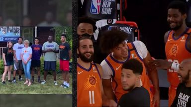 Suns players emotional before Sixers win
