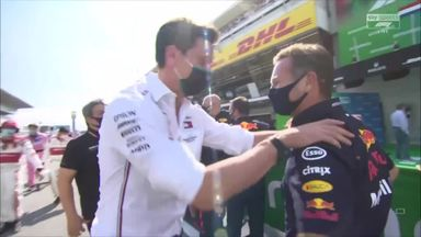 What did Wolff say to Horner after winning?