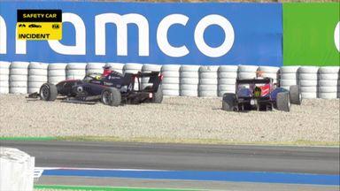 First lap drama in F3