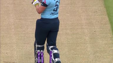 Eng in a spot of bother as Bairstow bowled!