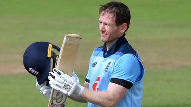 Morgan completes 14th ODI hundred