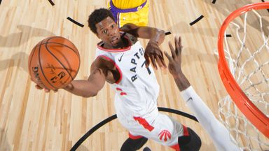 Lowry hits 33 to take down Lakers