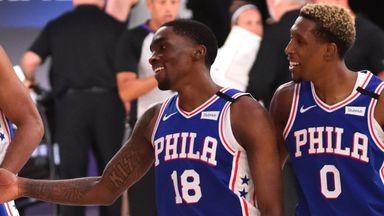Milton triple wins it for 76ers