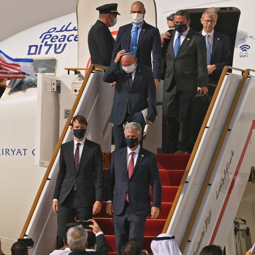 Historic first direct flight between Israel and UAE in wake of deal to normalise relations