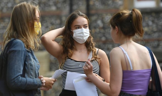 A-level results: 280,000 entries downgraded in England after coronavirus stops exams