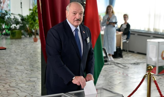 Belarus election: Long-time leader Alexander Lukashenko set for landslide win amid protests