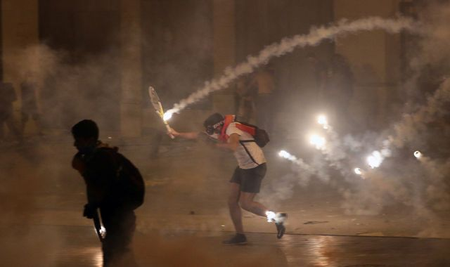 Beirut explosion: Government minister quits as violent protests grip Beirut after blast