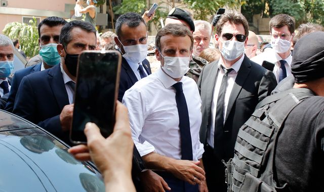 Beirut explosion: Macron mobbed on shattered streets of Lebanon's capital