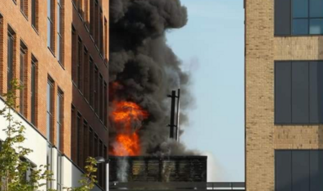 Fire breaks out in building on £450m Swansea University campus