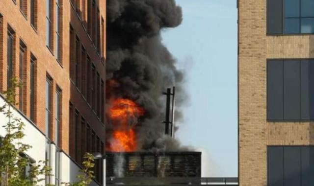 Fire breaks out in building on £450m Swansea University campus