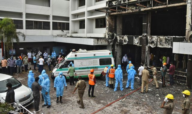Coronavirus: Fire kills 11 patients at COVID-19 treatment facility as India posts record rise in infections
