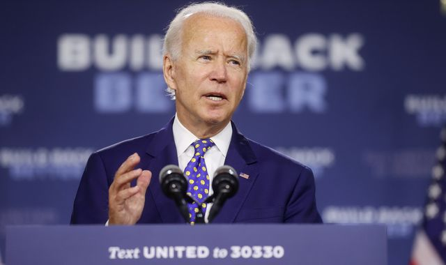 Russia 'trying to denigrate Joe Biden' in bid to meddle in US election, says top security official