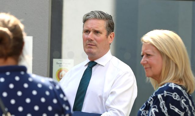 Labour leader Sir Keir Starmer hits out at 'complete fiasco' of last-minute A-level and GCSE assessment changes in England