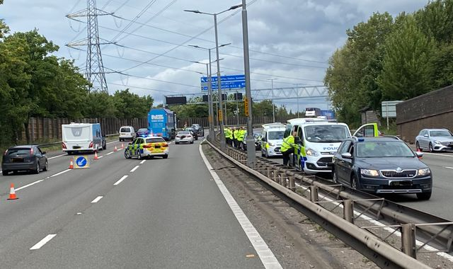 Boy seriously injured after being hit by several cars on M5