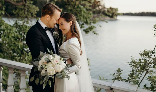 Finland's prime minister Sanna Marin 'happy and grateful' as she marries partner