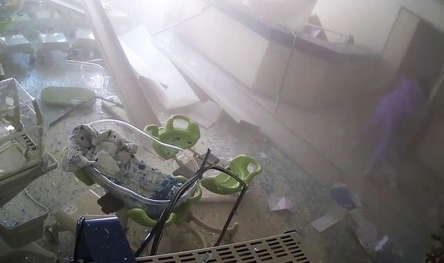 Beirut blast: CCTV captures moment huge explosion devastated hospital