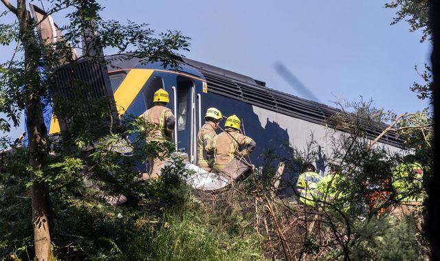 Stonehaven crash: Three believed to have died in Aberdeenshire train derailment