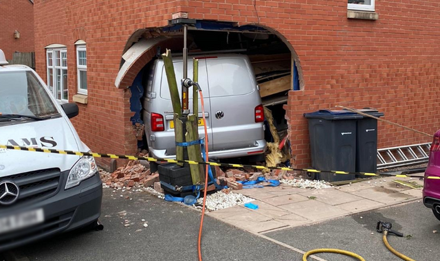 Birmingham child injured after van smashes through walls of house