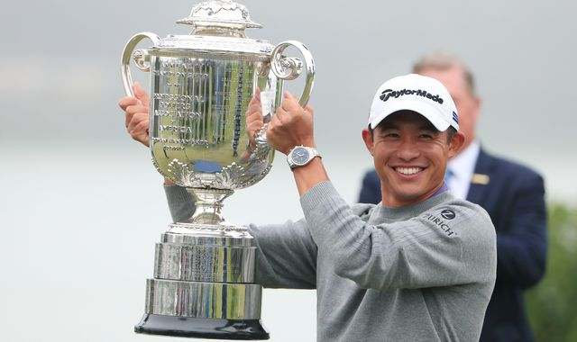 PGA: Collin Morikawa's stunning finish lands maiden major at Harding Park