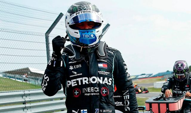 70th Anniversary GP Qualifying: Valtteri Bottas beats Lewis Hamilton to pole