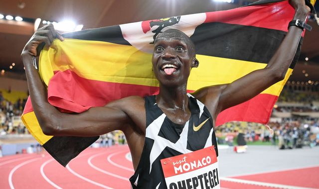 Joshua Cheptegei smashes 16-year-old 5,000 metres world record in Monaco