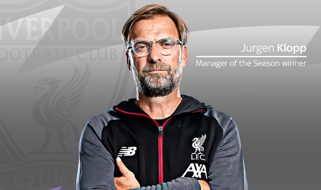 Jurgen Klopp: Liverpool boss named Premier League Manager of the Season