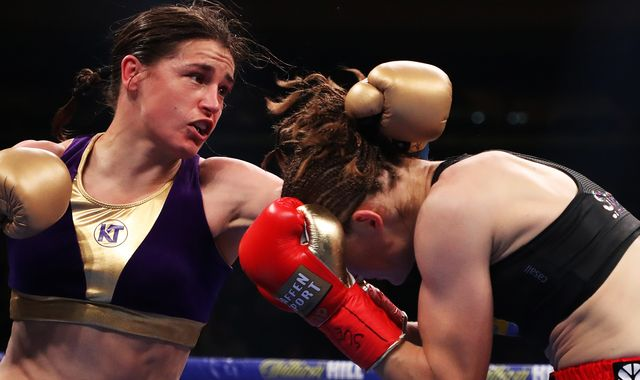 Whyte vs Povetkin: Katie Taylor hits back at criticism from Delfine Persoon by telling her to 'learn to box'