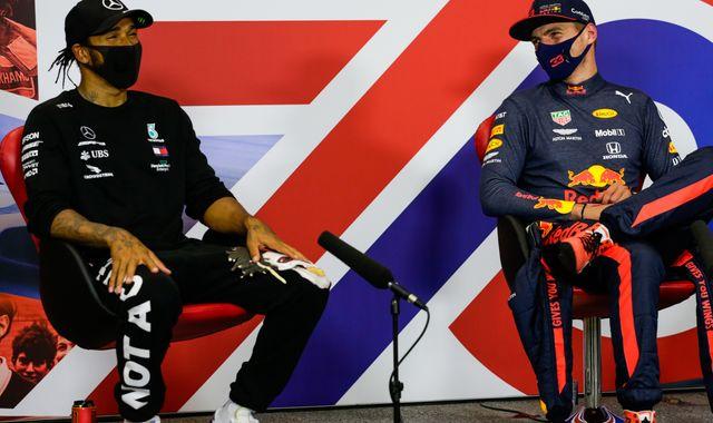 Lewis Hamilton 'keeping an eye' on Max Verstappen in F1 title battle