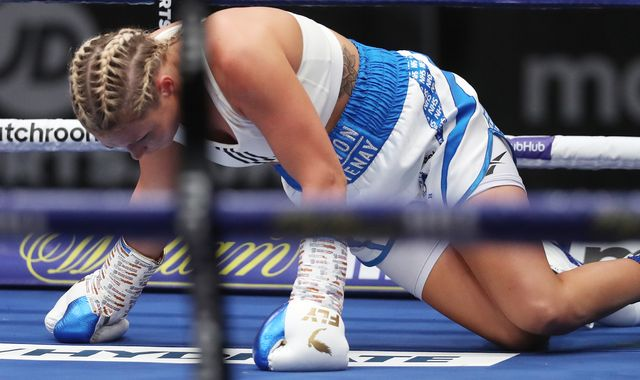 Cash vs Welborn: Shannon Courtenay's unbeaten record shattered as she is floored and defeated on points by Rachel Ball