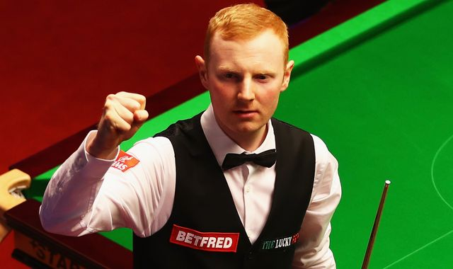 Anthony McGill confronts opponent Jamie Clarke over eyeline tactics at World Snooker Championship
