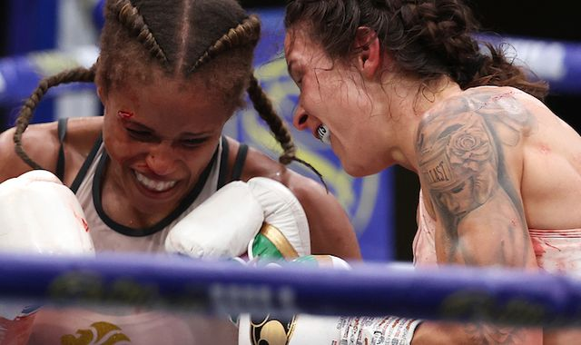 Terri Harper and Natasha Jonas could meet in a world title rematch, says Eddie Hearn