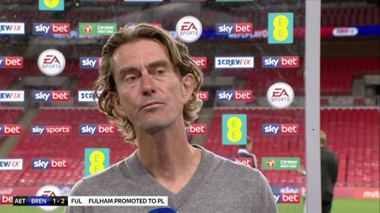 Brentford boss Thomas Frank says he was proud of how far his team has come this season and says fine margins cost them in a tight game after his side were beaten 2-1 in the Championship play-off final