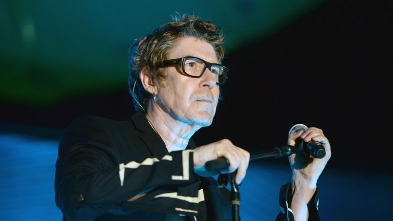 SANTA MONICA, CA - JULY 21:  Singer Richard Butler of The Psychedelic Furs performs onstage during the Twilight Series at Santa Monica Pier on July 21, 2016 in Santa Monica, California.  (Photo by Scott Dudelson/Getty Images)